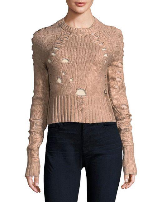 Zoe Jordan - Multicolor Distressed Foil Wool And Cashmere Sweater - Lyst