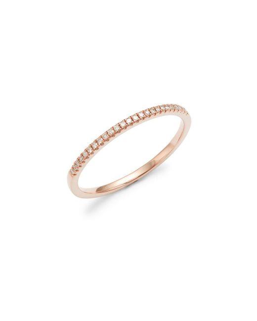Saks Fifth Avenue - Metallic 14k Rose Gold & 0.08 Tcw Diamond Band Ring - Lyst