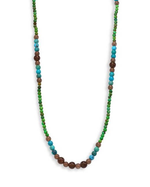 Stephanie Kantis | Green Turquoise Howlite, Blue Turquoise Howlite & Smoky Topaz Beaded Necklace | Lyst