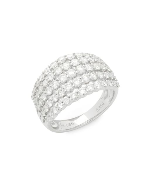 Effy - Metallic Diamond & 14k White Gold Ring - Lyst