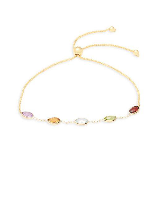 Saks Fifth Avenue - Metallic 14k Gold Single Bolo Strand Bracelet - Lyst