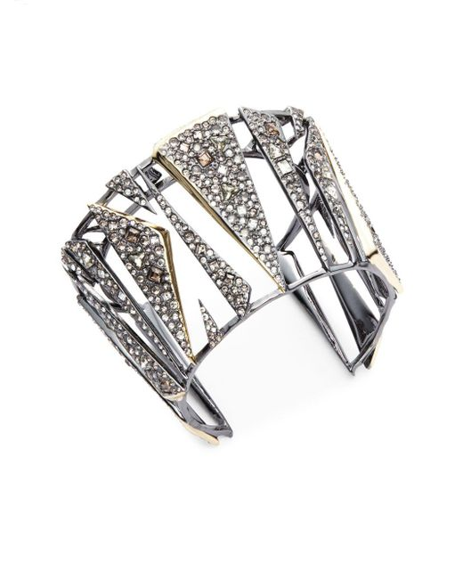 Alexis Bittar - Metallic Crystal-encrusted Hinged Cuff Bracelet - Lyst