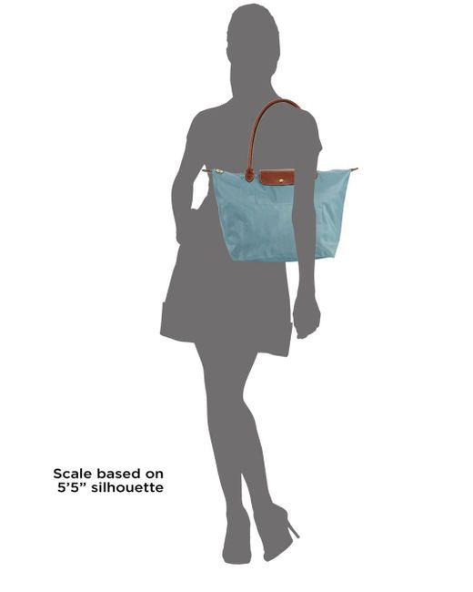 ... Longchamp - Blue Large Classic Le Pliage Tote Bag - Lyst ... 28945d6c90475