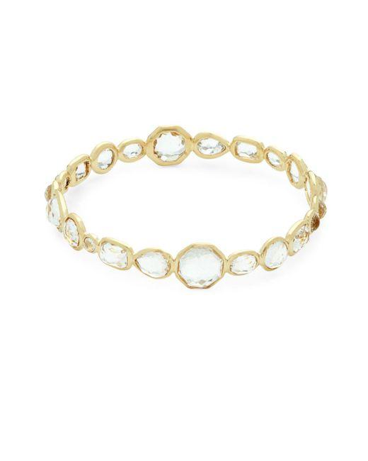 Ippolita - Metallic Rock Candy Clear Quartz And 18k Gold Bracelet - Lyst