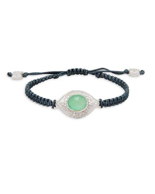 Armenta - Black Diamond & Chrysoprase Braided Cord Bracelet - Lyst