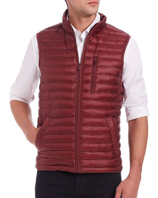 Saks Fifth Avenue - Red Thermoluxe Quilted Vest for Men - Lyst