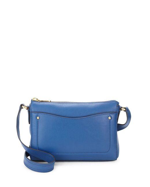 Cole Haan - Blue Esme Leather Crossbody Bag - Lyst