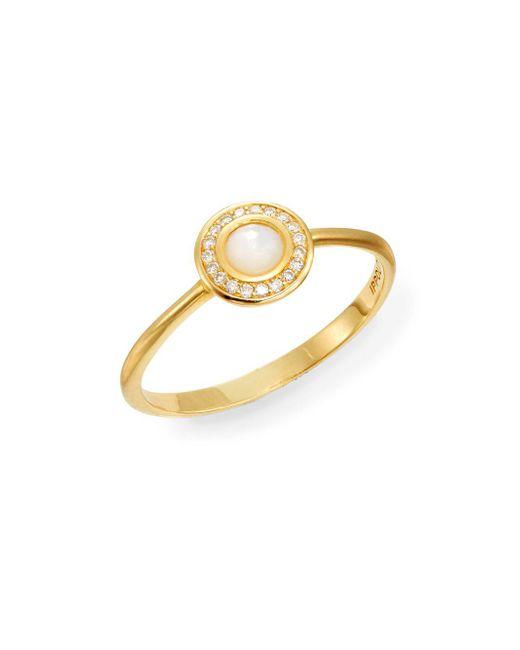 Ippolita | Metallic Lollipop Mother-of-pearl, Diamond & 18k Yellow Gold Mini Ring | Lyst
