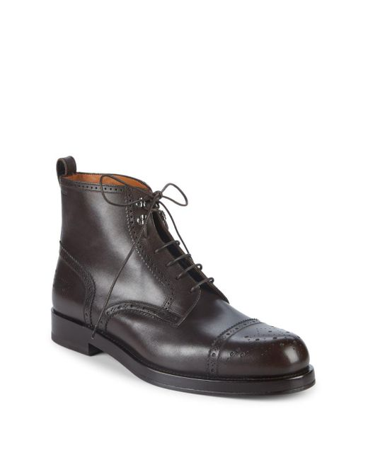 Bally - Brown Nordal Leather Ankle Boots for Men - Lyst