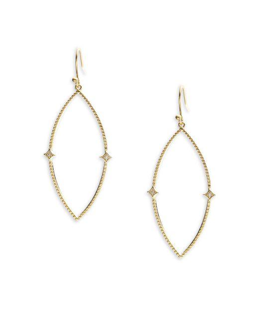 Panacea   Metallic Elegant Drop Earrings   Lyst