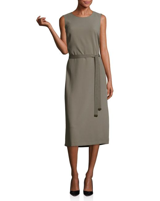 Peserico - Multicolor Belted Midi Dress - Lyst