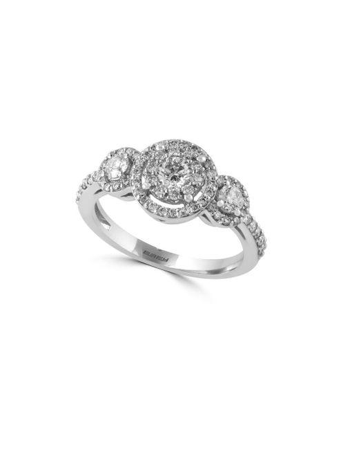 Effy - Metallic Bouquet 14k White Gold & Diamond Ring - Lyst