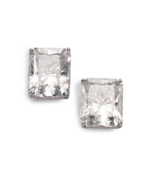 Adriana Orsini - Metallic Faceted Stud Earrings - Lyst