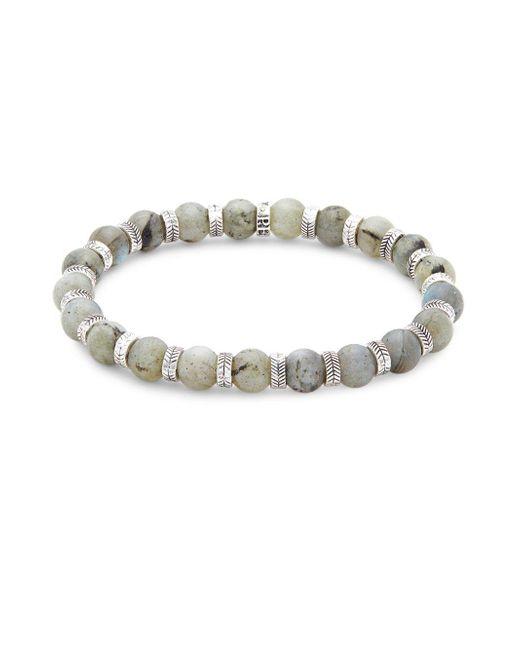 Perepaix - Metallic Stainless Steel Beaded Bracelet - Lyst