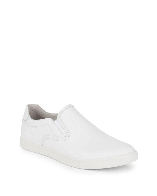 Ugg - White Tobin Leather Slip-on Sneakers for Men - Lyst