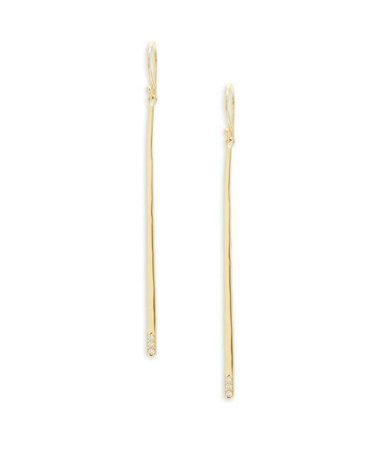Ippolita - Metallic Stardust Diamond And 18k Gold Drop Earrings - Lyst