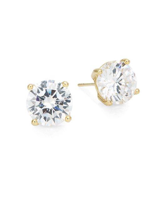 Saks Fifth Avenue | Metallic Round Stud Earrings/goldtone | Lyst