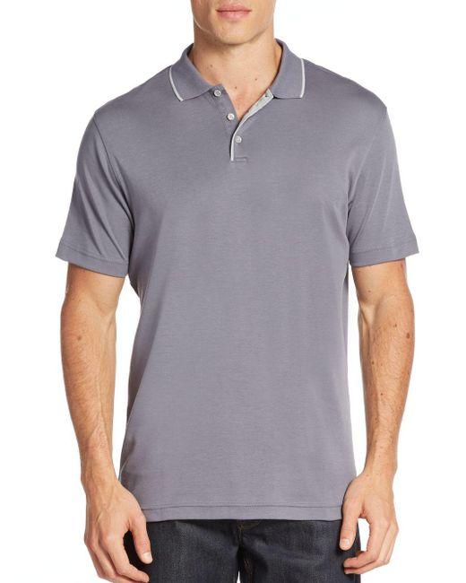 Robert Barakett | Gray Georgia Cotton Polo Shirt for Men | Lyst