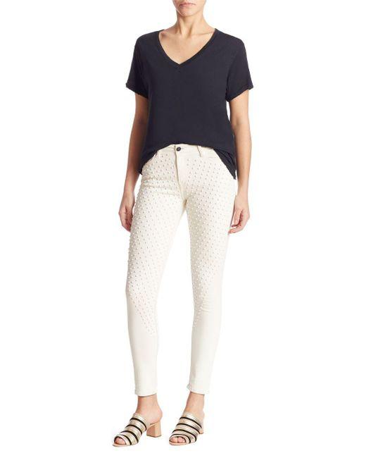 Brockenbow - White Reina Studded Skinny Jeans - Lyst