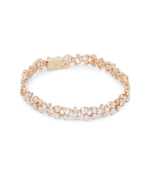 Adriana Orsini - Metallic Caspian Crystal Line Bracelet - Lyst