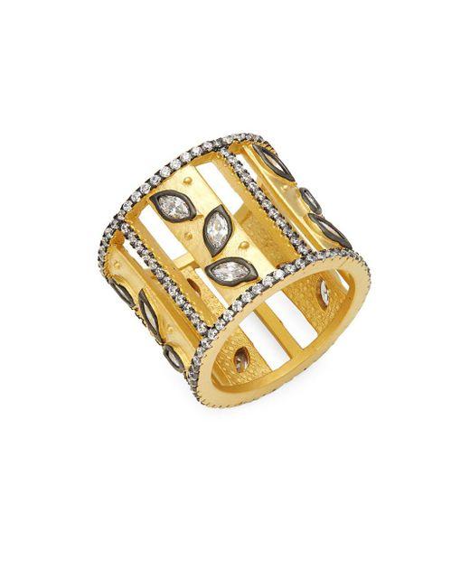 Freida Rothman - Metallic Fleur Bloom Sterling Silver & Crystal Ring - Lyst
