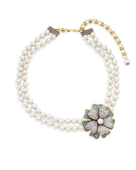 Heidi Daus - Blue Multicolored Crystal Two-row Necklace - Lyst