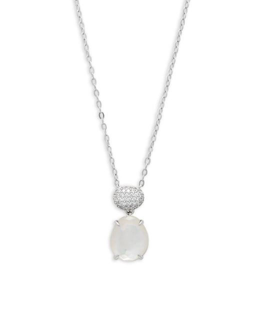 Adriana Orsini - Metallic Reeva Mother-of-pearl And Crystal Pendant Necklace - Lyst