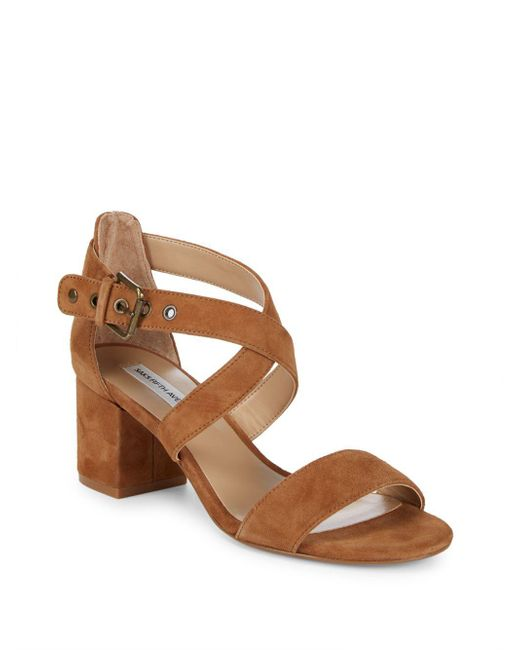 Saks Fifth Avenue - Black Strappy Block Heel Sandals - Lyst