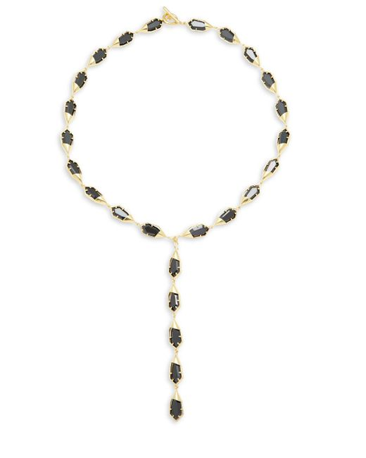 Noir Jewelry | Metallic Gold & Black Toggle Necklace | Lyst