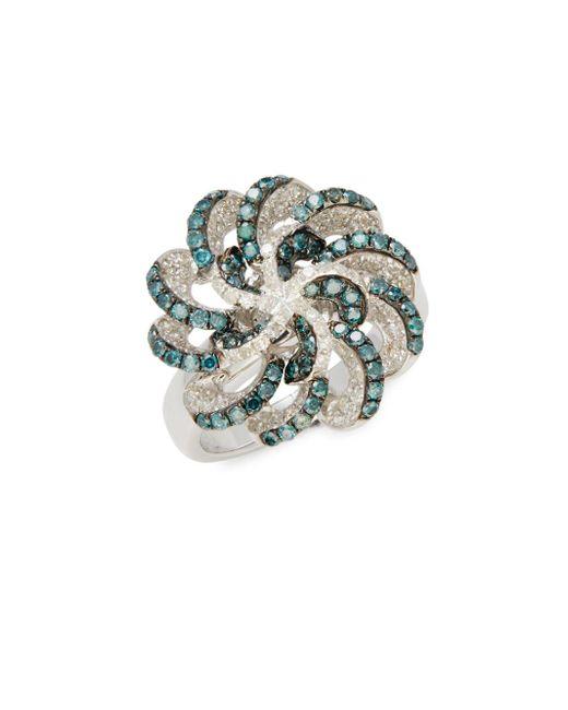 Effy - Metallic Blue Diamond & White Gold Ring - Lyst