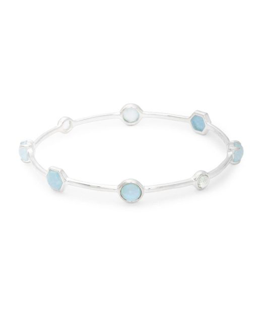 Ippolita - Metallic Rock Candy Mother-of-pearl, Topaz, Amethyst And 925 Sterling Silver Bangle Bracelet - Lyst