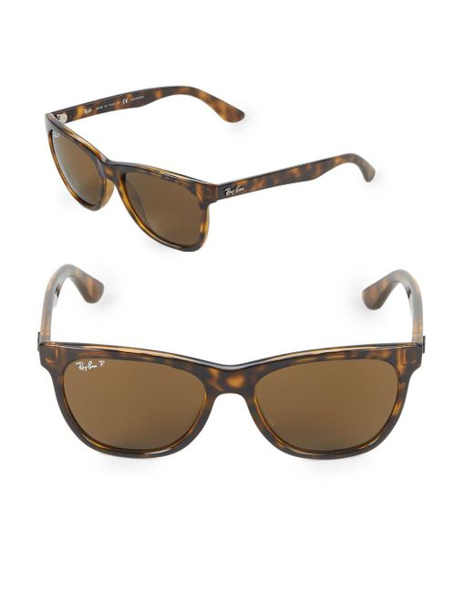 Ray-Ban - Brown 54mm Polarized Wayfarer Sunglasses - Lyst