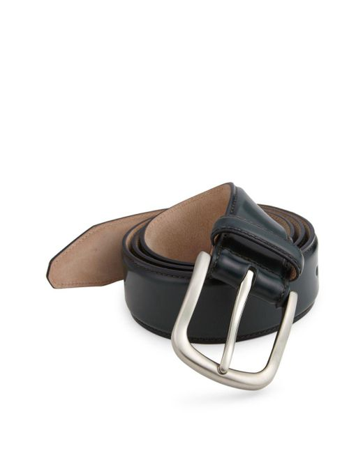 Saks Fifth Avenue - Green Cordovan Leather Belt for Men - Lyst