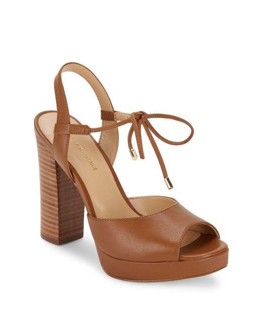 Saks Fifth Avenue | Brown Penelope Open Toe Platform Sandals | Lyst