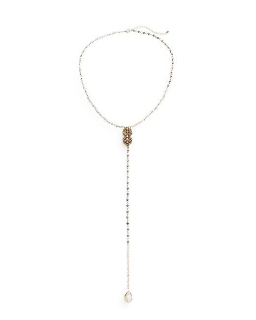 Saks Fifth Avenue | Metallic Beaded Crystal Y-drop Necklace | Lyst