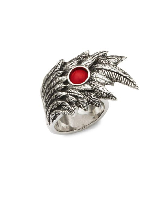 King Baby Studio - Metallic Wing Bead Sterling Silver Ring - Lyst