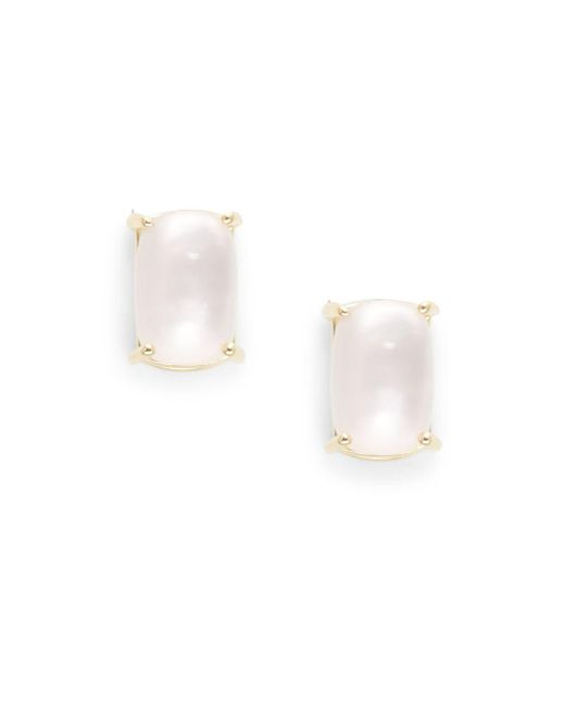 Roberto Coin - Cocktail Mother-of-pearl, Pink Quartz & 18k Gold Stud Earrings - Lyst