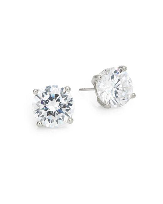 Saks Fifth Avenue - Metallic Round Stud Earrings/silvertone - Lyst