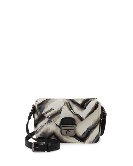 Longchamp - Black Le Pliage Dyed Fur And Leather Crossbody Bag - Lyst