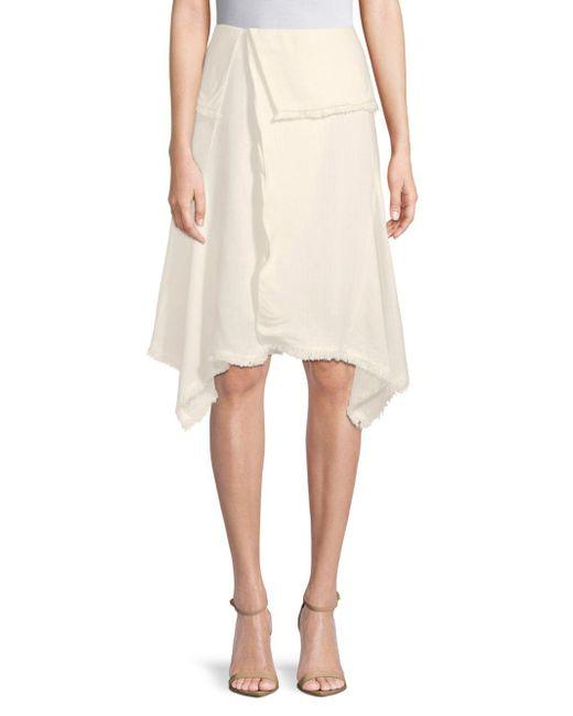 Moon River - Natural Foldover Knee-length Skirt - Lyst