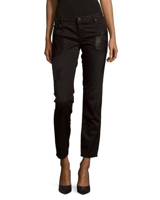 Maje - Black Straight-leg Solid Jeans - Lyst