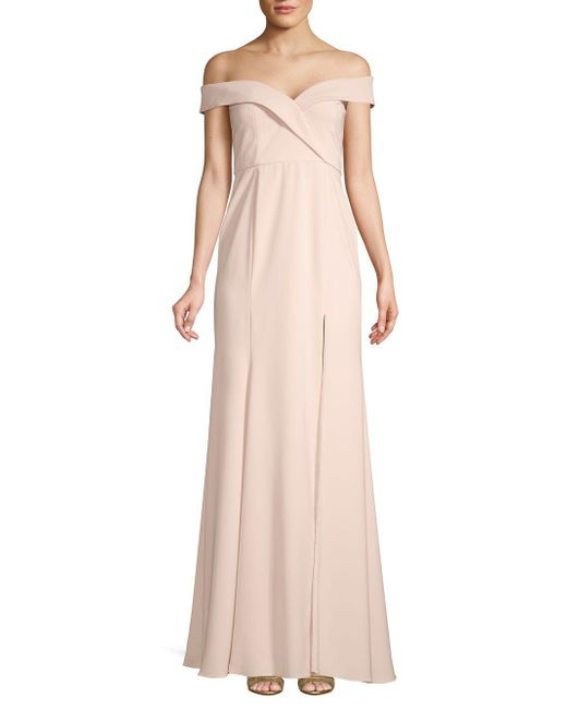 Jay Godfrey Pink Off-the-shoulder Gown
