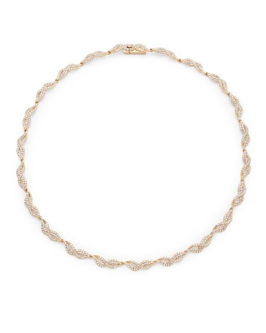 Adriana Orsini - Metallic Helix Crystal Collar Necklace - Lyst