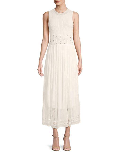 Ronny Kobo - White Ebrill Embellished Sleeveless Dress - Lyst