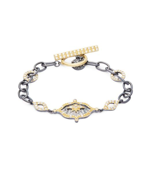 Freida Rothman - Metallic Hammered New Star Station Bracelet - Lyst