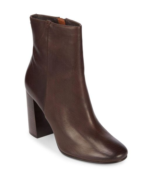 Frye - Brown Mina Leather Booties - Lyst
