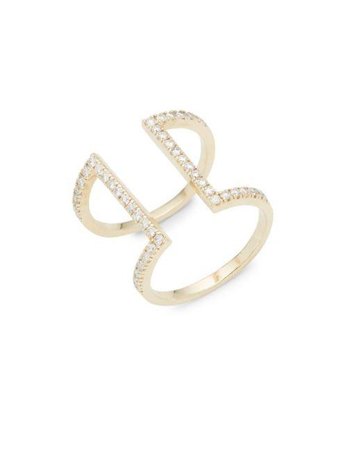 KC Designs | Metallic Diamond & 14k Yellow Gold Geometric Ring | Lyst