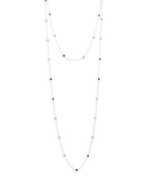 Saks Fifth Avenue - Metallic Mutli-stone Yellow Gold Double Strand Necklace - Lyst