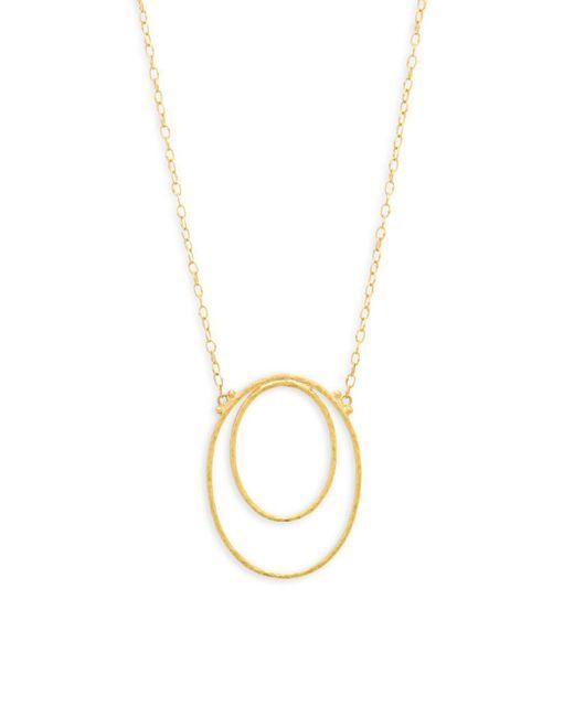 Gurhan - Metallic 24k Yellow Gold Open Oval Pendant Necklace - Lyst