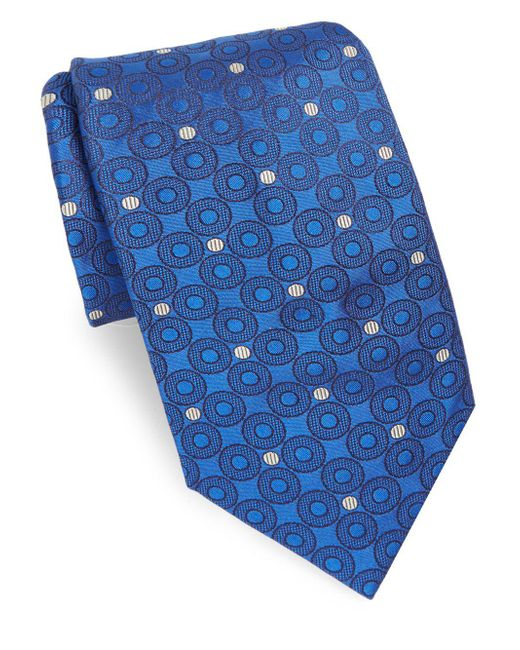 Brioni - Blue Azure Dots Silk Tie for Men - Lyst